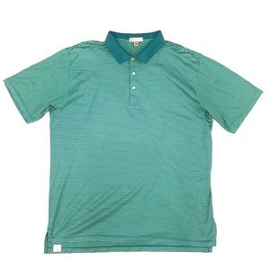 Peter Millar Shirts - Peter Millar Striped Polo Size XXL Green
